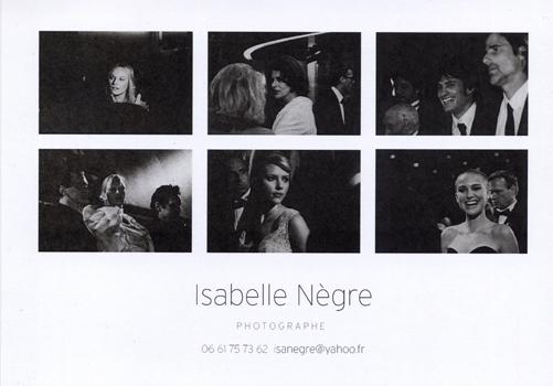 Carte de Visite Isabelle NEGRE - Photographe